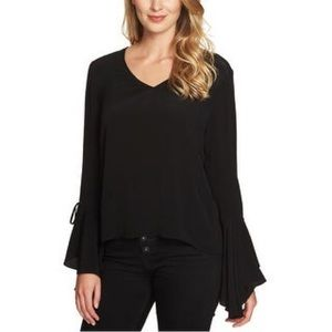 1. State cascade sleeve pullover blouse